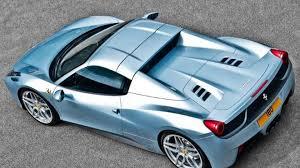 Ferrari 458 Light Blue - ferrari 458 spider restyled by a kahn design