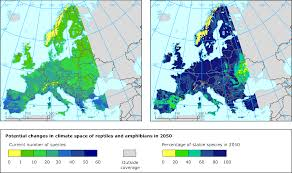 Europe Temperature Map Distribution And Abundance Of Animal Species U2014 European