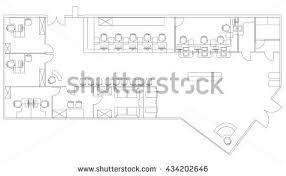 Floor Plan Drawing Symbols Office Floor Plan Vectors Download Free Vector Art Stock