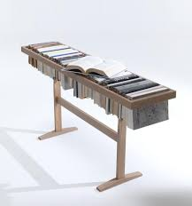 interesting many books of wooden book shelf with table shape home