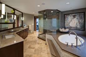 master suite bathroom ideas spacious master bathroom with step up tub and glass shower