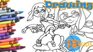 draw inkling splatoon 2 step step easy