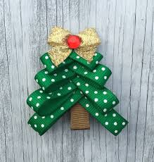 christmas tree hair bow clip holiday hair clip christmas