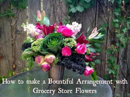 how to make bountiful floral arrangements with grocery store