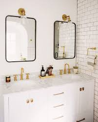 Marble Master Bathroom by New Darlings Our Master Bathroom Reveal Modern Brass And Marble