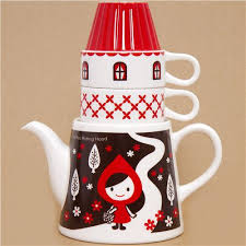 cool cups in the hood little red riding hood tea set forest house otogicco cups mugs