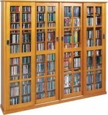 Cd And Dvd Storage Cabinet With Doors Oak Finish Dvd Storage Cabinet With Doors Foter