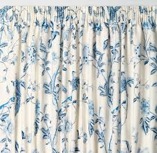 summer palace royal blue pencil pleat ready made curtains laura