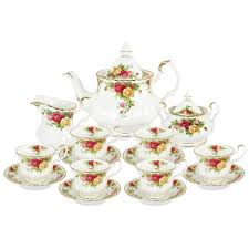 country roses tea set royal albert country roses complete tea set 15pce s