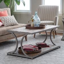 Lower Coffee Table by Belham Living Edison Reclaimed Wood Coffee Table Hayneedle