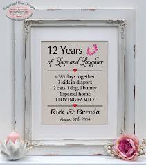 12 year anniversary gift for 12th anniversary gift 12 years married 12 year anniversary