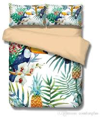 2017 3d toucan pineapple peacock duvet cover set quilt cover