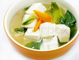 chinese food vegetables and tofu soup stock photo colourbox