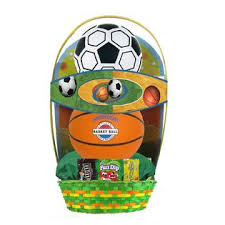 sports easter baskets soccerball and basketball sports and easter basket seasonal
