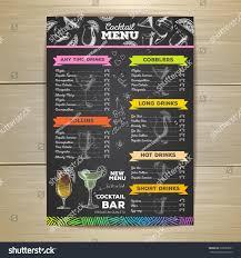 cocktail drinks menu drinks menu template eliolera com