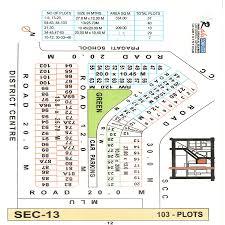 Plot Map Map Of Dda Plots In Sector 13 Dwarka New Delhi Dwarkaapartment