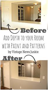 How To Paint And Stencil by How To Paint A Wall Using A Stencil Herringbone Pattern