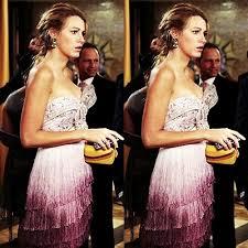 gossip girl earrings gossip girl fashion marchesa fringe dress martine wester