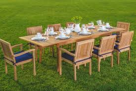outdoor table ls battery operated amazon com new 9 pc luxurious grade a teak dining set 94