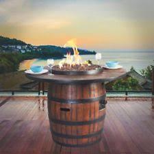 Wine Barrel Fire Pit Table by Barrel Propane Fire Pits U0026 Chimineas Ebay