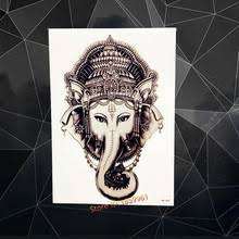 buy elephant tattoo sticker and get free shipping on aliexpress com