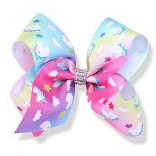 african american cheer hair bows 5 inch magical unicorn jojo bows grosgrain cheer bow jojo siwa style