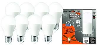 led garage light bulbs miracleled 604051 rough service led 100w household replacement light