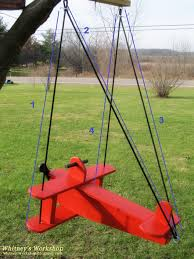 Backyard Swing Plans by Ana White Child U0027s Airplane Swing Diy Projects