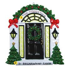 personalized ornament black door new home new