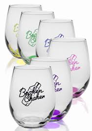 how to personalize a wine glass personalized stemless wine glasses discountmugs