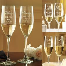personalized anniversary chagne flutes walmart