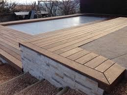 plage de piscine plage de piscine en bois dans le rhône made in bois réalisation