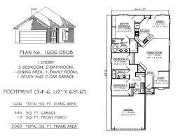 2 car garage sq ft 1700 sq ft house plans 1 story 3 bedroom 2 bathroom 1 dining area 1