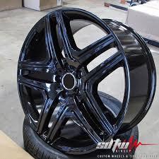 mercedes amg black rims 20 5 spoke gloss black wheels fits mercedes g55 g63 amg g