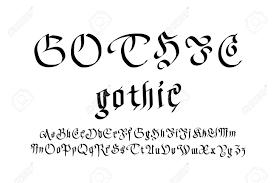 imagenes goticas letras moderno estilo de fuente gótica letras góticas del arte del vector