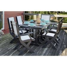 Polywood Patio Furniture Outlet by Trex Outdoor Furniture Surf City Textured Silver 7 Piece Patio
