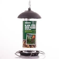 gardman bird feeder black steel seed feeder u2013 yorkshire trading