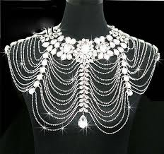 rhinestone necklace set images New vintage wedding bridal women ladies jewelry set silver crystal jpg
