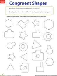 Similar And Congruent Figures Worksheet Congruent Figures Worksheet Education Com
