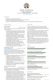 project manager resume project management resume templates zombotron2 info