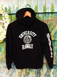 vintage 80 u0027s university of hawaii 50 50 soft hooded sweatshirt