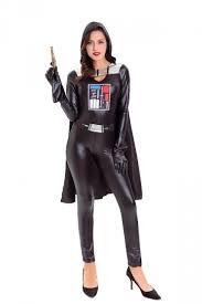 women star wars black warrior darth vader halloween costume black