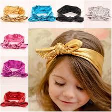 stretch headbands metallic headband rabbit ears headdress 15inch 2 5inchbaby