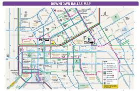 Dallas Terminal Map by Dallas Bus Map Dallas Bus Routes Map Texas Usa