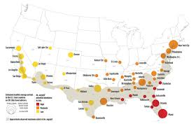 map of usa zika mosquitoes could spread zika in dozens of u s cities cbs news