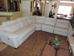 sectional white leather sofa russcarnahan com
