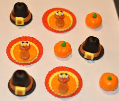 thanksgiving fondant cupcake cake or cookie toppers edible