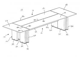 Galant Conference Table Chairs Patent Us Modular Conference Table Patents