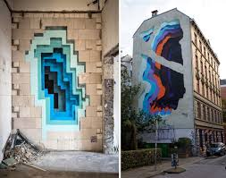 colourful murals look like portals to another dimension portal new murals by 1010 expose hidden portals of color in walls and buildings