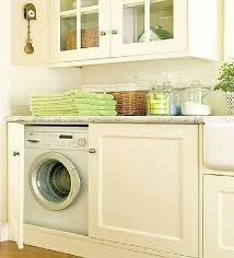 washer and dryer cabinets hidden laundry spaces